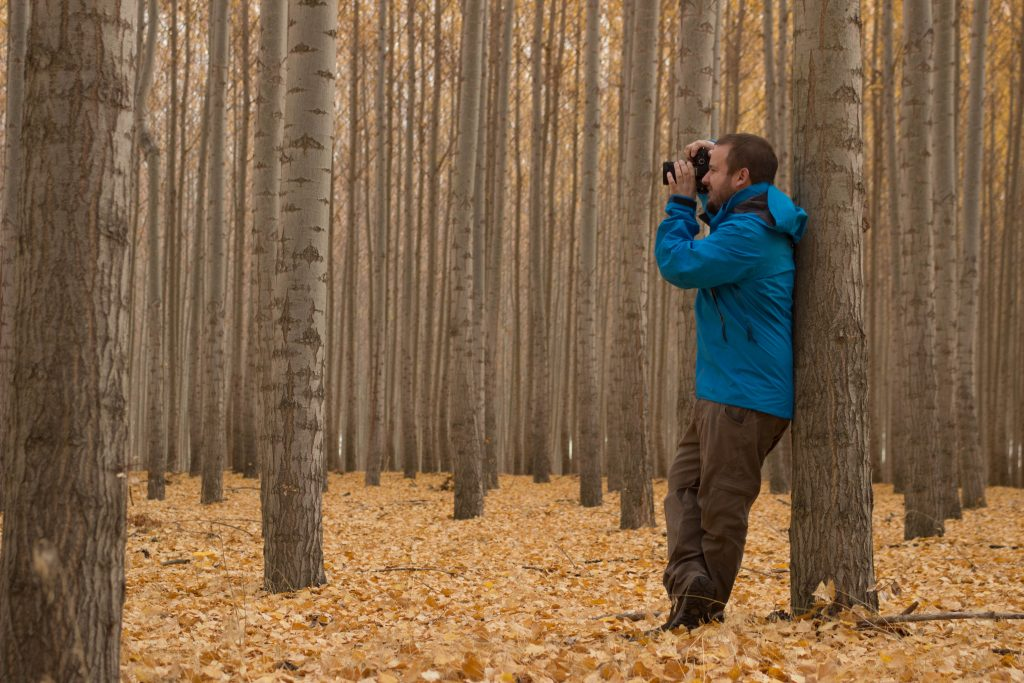 Zach during the fall at the Boardman Tree Farm